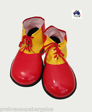 Clown Shoes Costume Funky Big Circus Funny Shoes Fancy Dress Party Red & Yellow