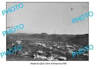 OLD LARGE PHOTO MOUNT ISA QUEENSLAND VIEW OF TOWNSHIP c1933