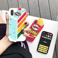 3D Funny cartoon food cake silicone soft Case cover for IPhone X XS Max 7 8 plus