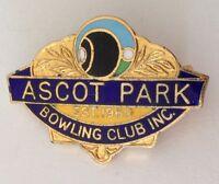 Ascot Park Bowling Club Badge Pin Lawn Bowls Vintage (K2)