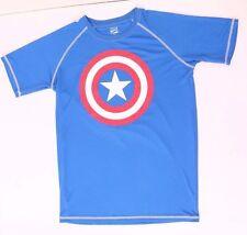 Marvel Captain America Men's Blue T-Shirt 100% Polyester NWT Medium