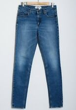 Victoria Beckham Blue Cotton Blend Skinny Jeans Slim Pants Trousers Size W 28