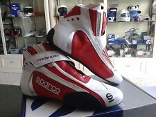 SPARCO RACE BOOTS FIA SHOES SCHUHE FORMULA + ROT RED/WHITE  RALLY RACING BOTAS