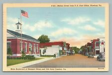 Mellon Street PHOEBUS Virginia—Texaco Gas Station—Vintage Hampton VA 1940s