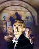 8x10 Print Lon Chaney Jr John Carradine House of Dracula 1945 #LCJ