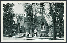 First Presbyterian Church Litchfield Ill Illinois IL black and white postcard