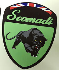 Scomadi Logo Badge Printed Decal Sticker Mod Custom MINT GREEN FP TL 50 125 200