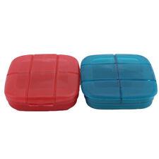 Modern Mini Pill Box Travel Portable Drug Storage 6 Slots Medicine Medical DP