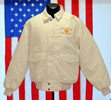 Rare NWOT VTG Mason Oil Company LG Shell Lubricants Zip Jacket Coat USA Gas Warm