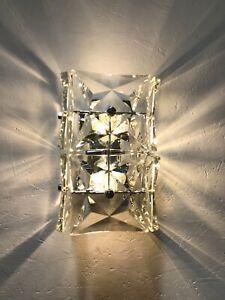 Kinkeldey Wandlampe Leuchte Kristallglas Prisma Mid Century 70er Chrom Top