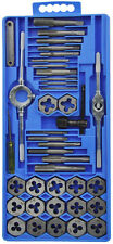 40Pc Metric Tap And Die Wrench Set Cuts M3-M12 Bolts + Hard Case