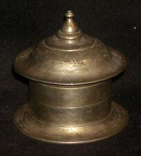 Antique Indian Traditional Ritual Bronze Tilak Box Rare Collectible#1
