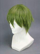 Kuroko's Basketball Midorima Shintaro Short Green Cosplay Hair Cosplay Wig + Cap
