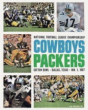 1966 NFL Championship Game Program Cover Packers vs Cowboys 8x10 Color Photo