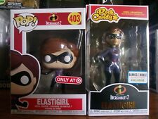 Funko Pop! Vinyl: Disney #403 and Funko Rock Candy-(Exclusive) Elastigirl 2-Pack
