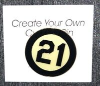 "Roberto Clemente Black & White ""21"" Pin - Commemorating Player 1973"
