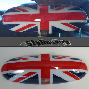 Mirror Union Jack For Mini One Cooper R50 R52 R53 > Rearview Mirror with Lever
