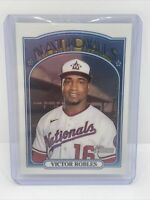 2021 Topps Heritage - Victor Robles - #470 Chrome Parallel #d /999 NATIONALS