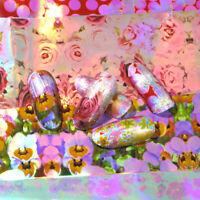 16Pcs/Set Holographic Nail Foils Flower Patterns Sticker Nail Art Decoration