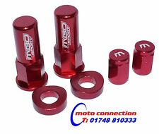 MBO SPORT RED RIM LOCK NUT AND VALVE CAP KIT FOR HONDA CRF250 CRF450 2014