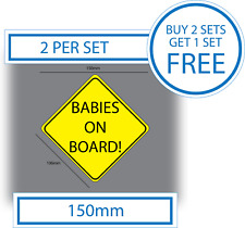 2 X bebés a bordo bebé a Bordo Pegatina Vinilo Autoadhesivo Pegatina de coche de seguridad