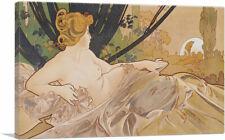 ARTCANVAS Dawn 1899 Canvas Art Print by Alphonse Mucha