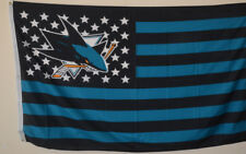 San Jose Sharks USA Stars and stripes  Flag Deluxe Banner 3'x5'Feet