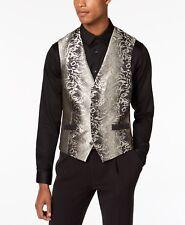 $145 Inc International Concepts Men'S Black Gold Slim Fit Suit Waistcoat Vest M