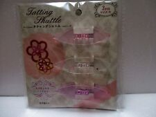 Japanese Handcraft Tatting Shuttle LARGE CLEAR COLOR 3Pcs From JAPAN