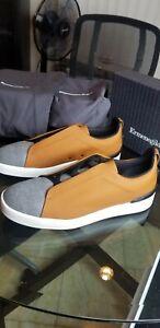 Zegna Triple Stitch Sneakers Sz 14 $650 retail NWB