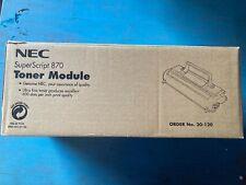 Genuine NEC superScript 870 Black Toner Cartridge 20120 20-120 3K pages