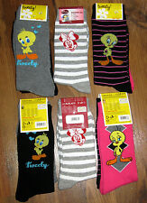 6 Paar Damen Socken Gr. 35-38 Looney Tunes Tweety Disney Minnie Maus