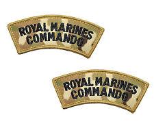 Pair of MTP Multicam Royal Marines Commando Shoulder Flashes / Titles