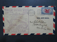 US SC# C23 on 1938 Waukesha Wisconson Cacheted Airmail Week Cover - Z8184