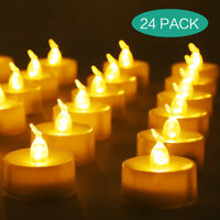 24pcs Flameless LED Candles Tea Night Lights Flickering Battery Operated Wedding