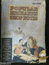 Vintage 1938 POPULAR MECHANICS SHOP NOTES Easy Ways to Do Hard Things Book