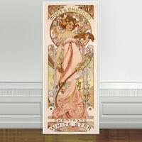 "Stunning Alphonse Mucha Moet Champagne White Star ~ CANVAS ART PRINT 24""X10"""
