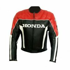 Honda Motorbike Original Cowhide Leather Jacket With CE Armour Protections