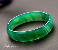 Beloved Natural beautiful green jade bracelet bangle big size 70mm