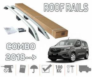 fit for Opel Combo 2019+ LWB Aluminium Crown Roof Rails Roof Racks