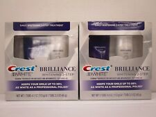 2 CREST 3D WHITE BRILLIANCE DAILY WHITENING 2 STEP TREATMENT EXP 2/21+ NT 8051