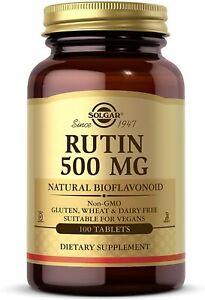 Solgar Rutin 500mg Source Of Bioflavonoids -100 Tablets