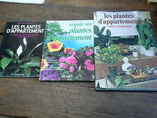 Lot de 3 livres sur les plantes d'appartement
