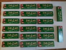 1000 x Zig Zag Green Papers. 20 packets of standard sized papers. FREE UK P&P