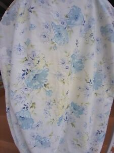 Vintage Wondercale Springmaid 1970's Floral Blue Fitted King Sheet