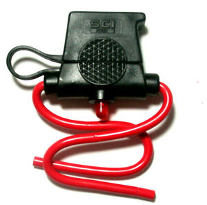 NTE Electronics 74-IFHAL30-B Auto In-Line Fuse Holder w/LED Warning Light - 30A