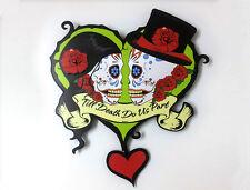 Till death do us part Wedding -Sugar Skull - Dia de Los Muertos - Pendulum