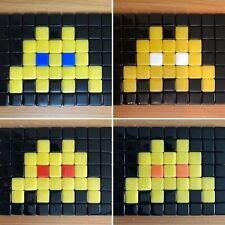 x4 Space Invader Quad Kit Mosaic Art Classic Yellow White Red Blue Orange Black