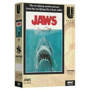 JAWS Movie Cover Sealed Collectors NEW One Sheet Jigsaw Puzzle 1000 Piece W
