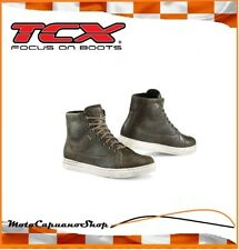 Shoe Sneakers Motorcycle Leather Reinforced TCX Mood Gore-Tex Brown TG.48